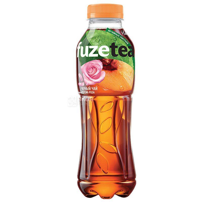 Fuzetea, 1 л, Фьюзти, Чай холодный, черный, Персик и роза