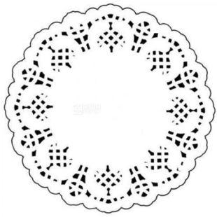 Napkin openwork round, D 11.4 cm, 100 pcs