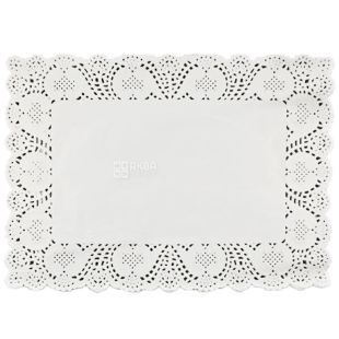 Салфетка бумажная, ажурная, прямоугольная, 25*35 см, 100 шт.