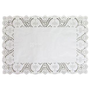 Салфетка бумажная, ажурная, прямоугольная, 30х40 см, 100 шт.