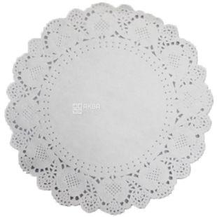 Napkin openwork round, D 19 cm, 100 pcs