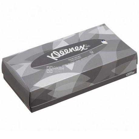Kleenex, 100 шт., Салфетки для лица Клинекс, 2-х слойные, 21.6х 18.6 см, белые
