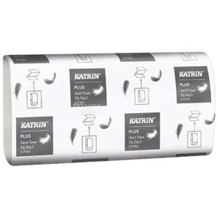 Katrin, 150 pcs., Paper towels, Classic, Double Layer, V-fold (ZIGZAG)