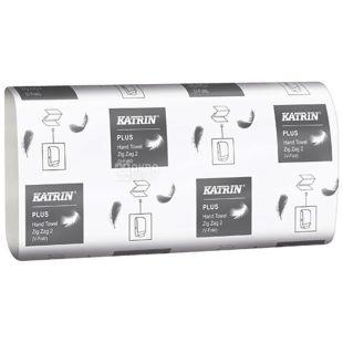 KATRIN, Classic ZIGZAG,150 листов, Полотенца бумажные Катрин, 2-х слойные, ZZ-сложение, 22.9х23.2 см