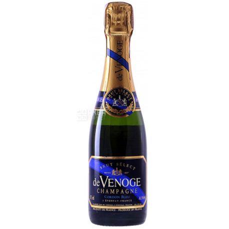 De Venoge, Cordon Bleu Select Brut, Вино игристое белое Брют, 0,375 л