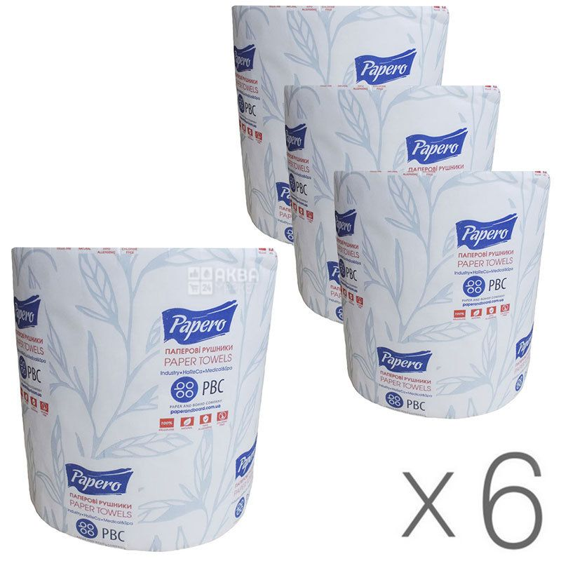 PDA, Jumbo paper towels, double-layered, 6 packs of 100 m each