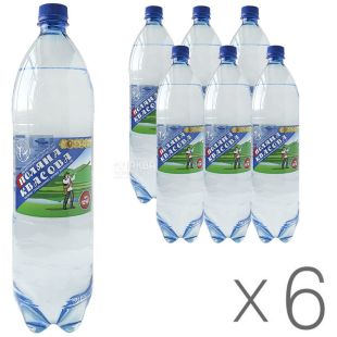 Polyana Kvasova, pack of 6 pcs. 1.5 l each, carbonated water, PET, PAT
