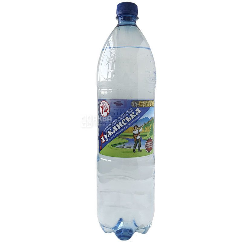 Лужанська, 1,5 л, Вода мінеральна газована, ПЕТ