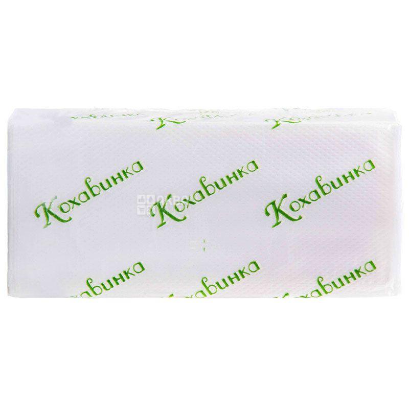Kokhavinka, 170 pcs., 25х23 cm, Z paper towels, Single-layer, gray