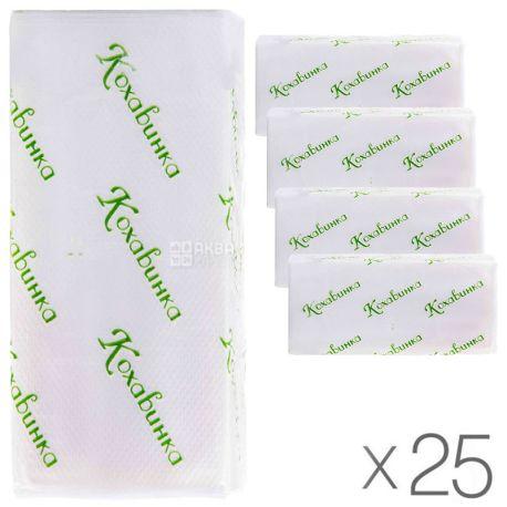 Кохавинка, 25 упаковок по 170 листов, Бумажные полотенца, однослойные, Z-сложения, 25х23 см, серые