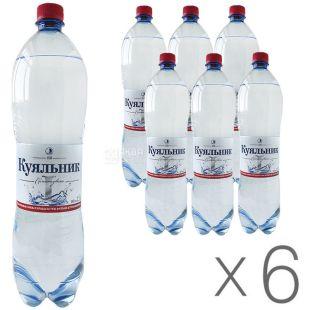 Куяльник 1, 1,5 л, Упаковка 6 шт., Вода сильногазированная, ПЭТ