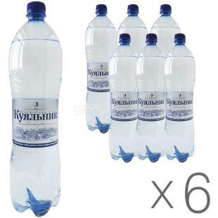 Куяльник, 1,5 л, упаковка 6 шт., Вода газированная, ПЭТ