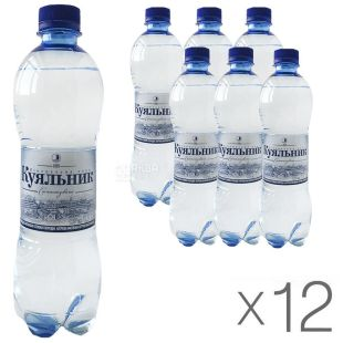 Kuyalnik, Water, carbonated, 0.5 l, pack of 12 pcs., PAT