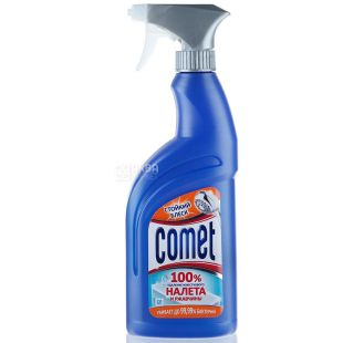 Comet, Спрей для чистки ванной комнаты, 100% удаление известкового налета и ржавчины, 500 мл