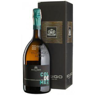 Soligo, Col de Mez Prosecco Valdobbiadene Brut, Игристое вино белое брют, 1,5 л