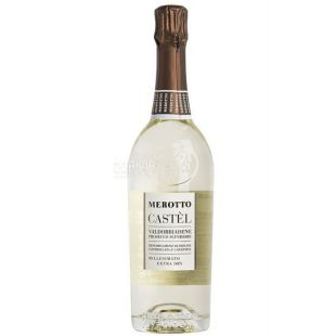 Merotto, Castel Prosecco Superiore Extra Dry Millesimato, Игристое вино белое брют, 0,75 л