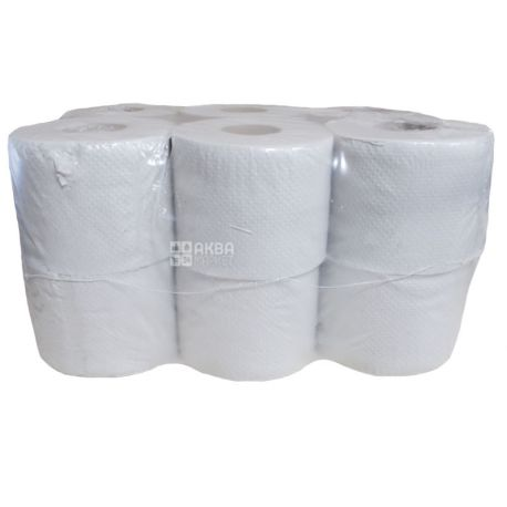 Bima, 12 рул., Туалетная бумага Бима, 1-слойная, 45 м