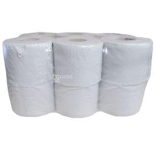 Bima, 12 рул., Туалетний папір Біма, 1-шаровий, 45 м
