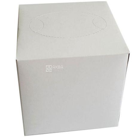 Mirus Cube, 75 шт., Серветки косметичні Мірус, двошарові, 20х17 см, білі