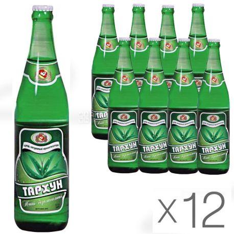 Черкасские Лимонады, Тархун, 0,5 л, Упаковка 12 шт., Напиток газированный, стекло