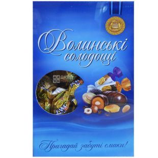 Volyn Sweets, Dried apricots with walnuts in chocolate, candy, 500 g