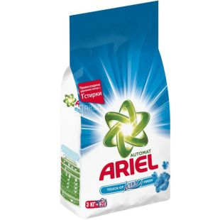 Ariel, 3 kg, Washing powder for white Lenor, Automatic