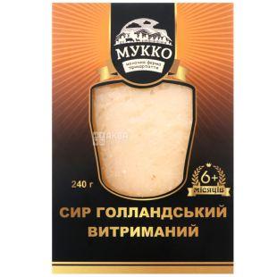 Мукко, 240 г, Сыр Голландский выдержанный 6+, 54%