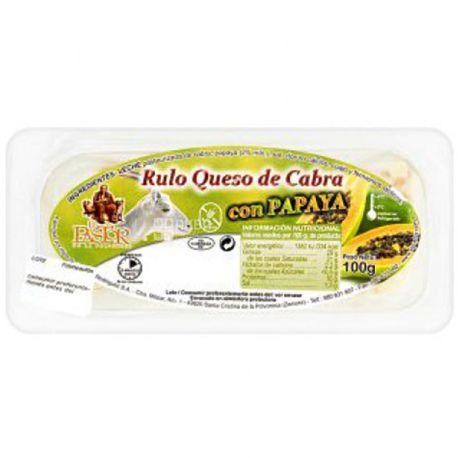 El Pastor, 100 г, Сыр козий с папайей, 29%