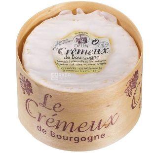 Delin, Crеmeux de Bourgogne, 200 г,  Сыр Кремо де Бургунь мягкий с трюфелем, 40%
