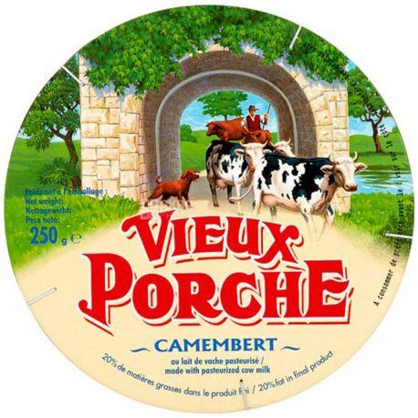 Vieux Porche, Camembert, 250 г, Сыр мягкий из коровьего молока, 20%