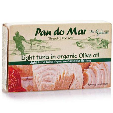 Pan do Mar, Тунец полосатый в органическом оливковом масле, 120 г
