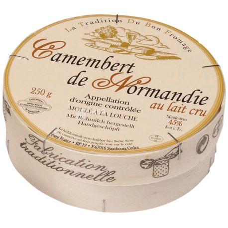 La Tradition du Bon Fromage, Camembert, 250 г, Сыр мягкий из коровьего молока, 22%