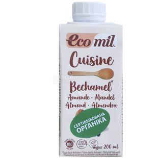 Ecomil, Bechamel, 200 мл, Екоміл, Рослинний соус Бешамель, без цукру