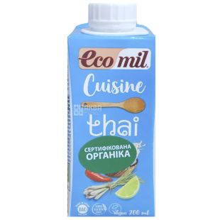 Ecomil, Thai, 200 мл, Экомил, Кокосовые сливки