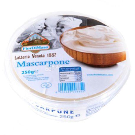 Fior di Maso, Mascarpone, 250 г, Сыр Маскарпоне, 43%