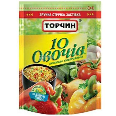 Торчин, 170 г, Приправа универсальная, 10 овощей