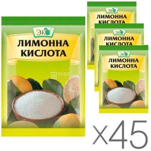 Эко, 25 г, Лимонная кислота, упаковка 45 шт.