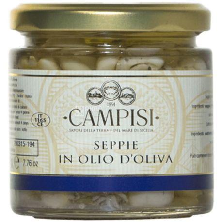 Campisi, 220 г, Каракатица в оливковом масле, консервированная