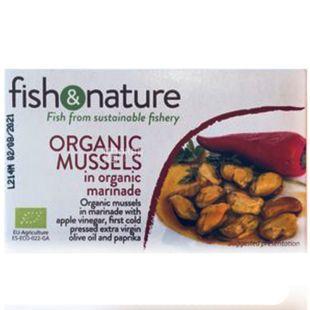 Fish & Nature, 115 г, Мидии в маринаде, органические