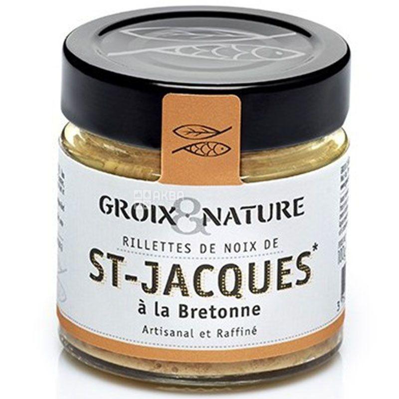 Groix & Nature, Риет из морского гребешка в Бретонском стиле, 100 г