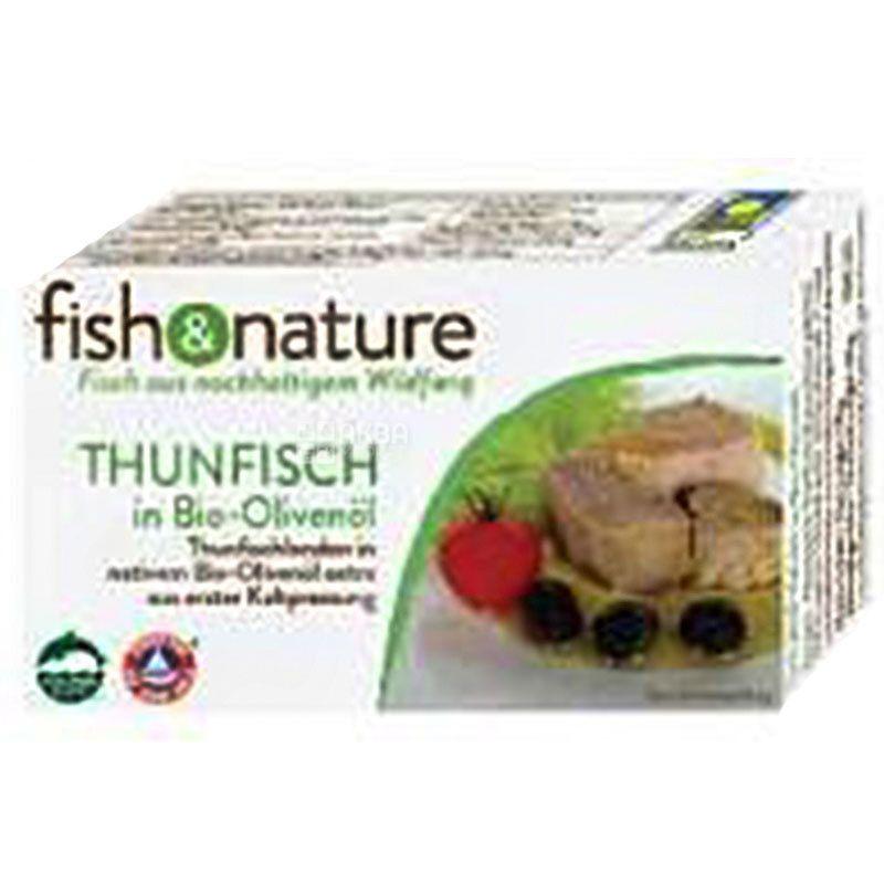 Fish & Nature, 115 г, Тунец в органическом оливковом масле