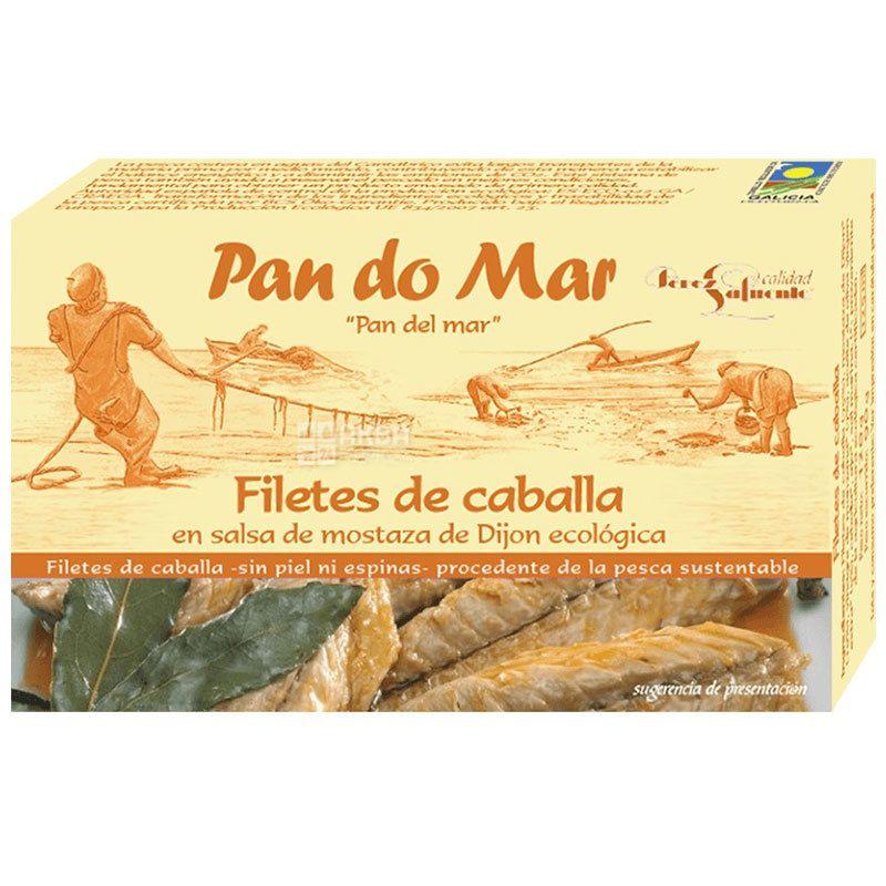 Pan do Mar, 120 г, Филе скумбрии в органическом горчичном соусе