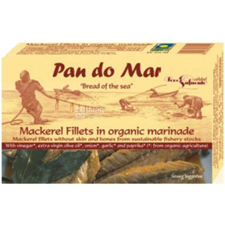 Pan do Mar, 120 г, Филе скумбрии в органическом маринаде