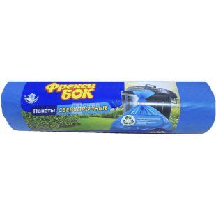 Фрекен Бок, 10 шт., 160 л, Пакеты для мусора, без затяжек, сверхпрочные, ассорти