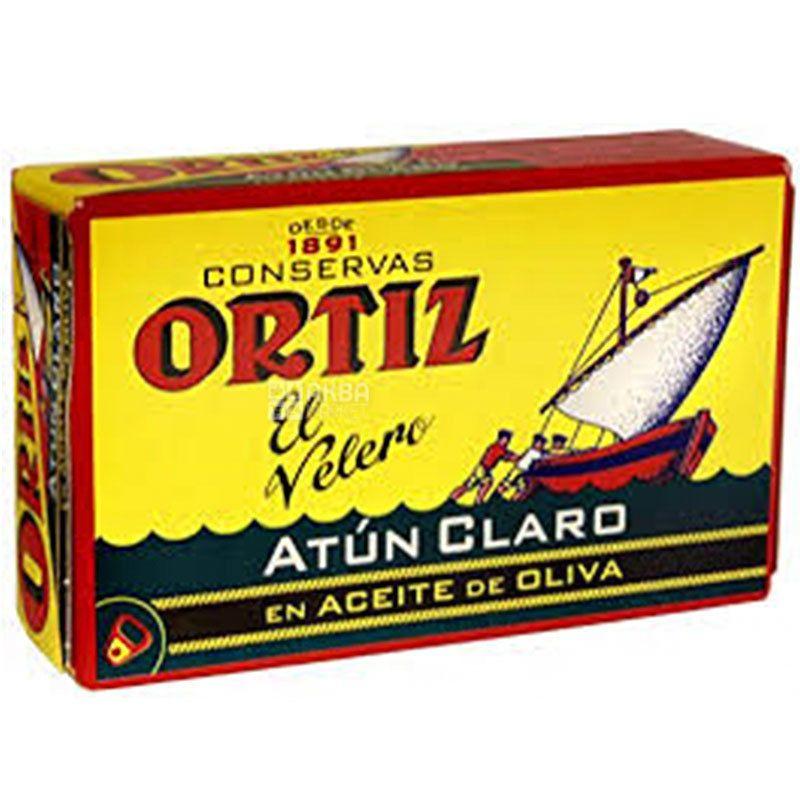 Conservas Ortiz, 110 г, Брюшки желтоперого тунца в оливковом масле
