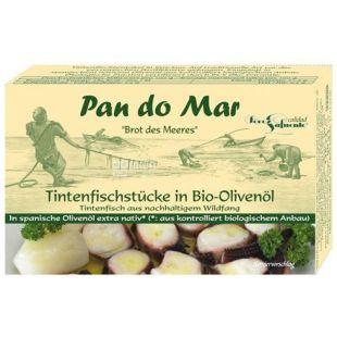 Pan do Mar, 120 г, Щупальця кальмара в органічній оливковій олії