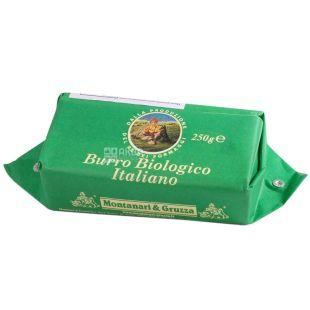 Montanari Gruzza, 250 г, Масло сливочное, органическое, 83%