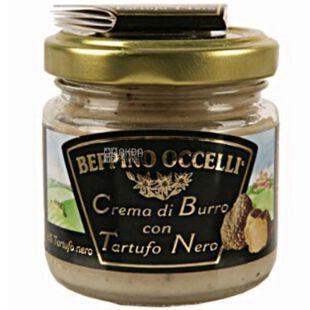 Beppino Occelli, 80 г, Масло сливочное, с черным трюфелем