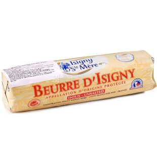 Isigny Ste Mere, 250 г, Масло сливочное, несоленое, 82%