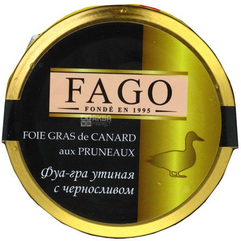 Fago, 180 г, Фуа-гра качина з чорносливом